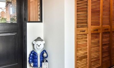 シーリングファンの似合う家 (玄関)