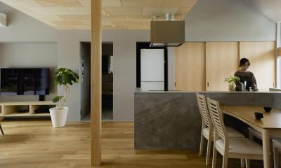松尾の家2(ロフトで繋がる平屋の家) (キッチン)