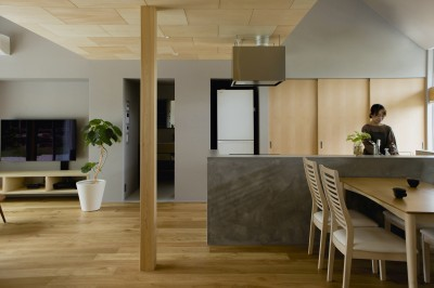 キッチン (松尾の家2(ロフトで繋がる平屋の家))
