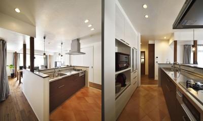 先取りリフォーム いつでも二世帯で暮らせるように (対面式のオープンキッチン)