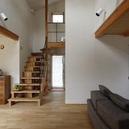 終の棲家~趣味を楽しみながら暮らす趣のある家~ (吹抜~階段)
