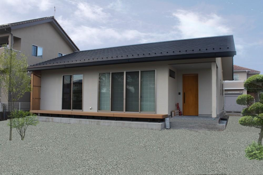 縁側のある平屋の家 (外観)