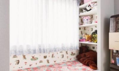うんていにハンモックに隠し扉まで⁉           遊び心満載の毎日が楽しい家 (お姫様のベッド)