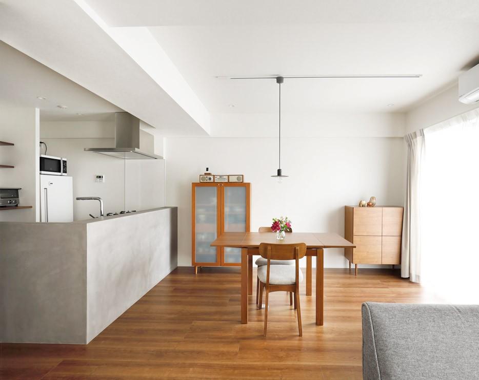 ずっと暮らす家だから、憧れと暮らしやすさに将来の予定もしっかりと盛り込んで。 (家具はリノベを想定して買い揃えていたもの)