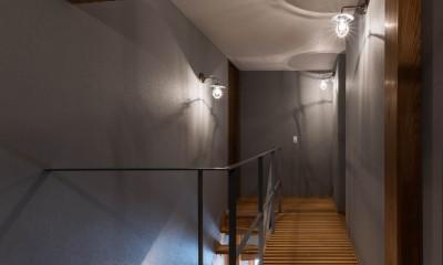 京都と海外が融合する家 (廊下)