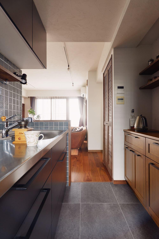 K様邸_マンションで憧れの古民家に住む (キッチン)