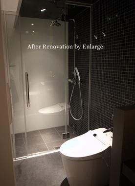 築35年マンション 水廻り限定リノベの部屋 シャワーブース