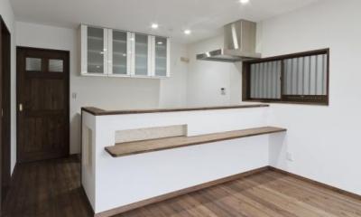 キッチンカウンター / 1F|2世帯全面リフォーム