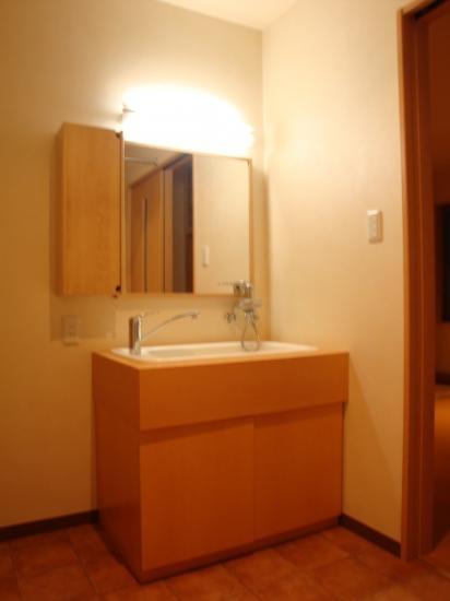 海老名市 M様邸の部屋 水栓2本の洗面台