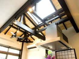 Japanese Modren Style (キッチンから見た天井)