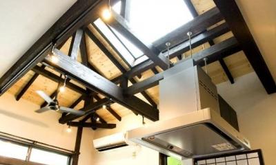 キッチンから見た天井|Japanese Modren Style