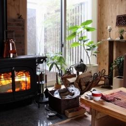 木質スケルトン+DIYでつくるこだわり空間 (薪ストーブ)
