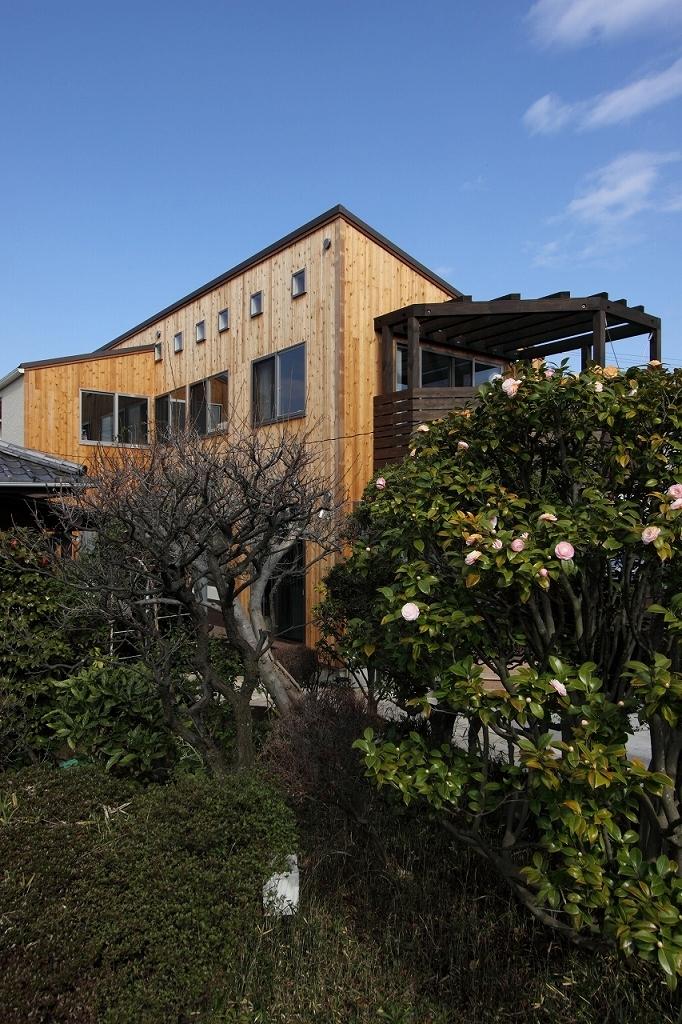 緑豊かな敷地環境を継承する木造スケルトンハウスの部屋 外観1