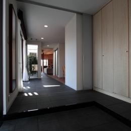 家族と犬がのびのび暮らすパッシブソーラのエコリフォーム (玄関)