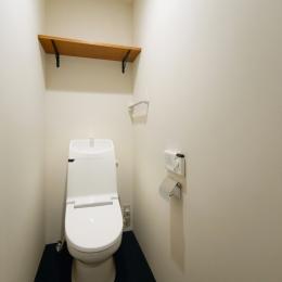 nest 直線で構成されたパノラミックな一戸建リノベ (トイレ)