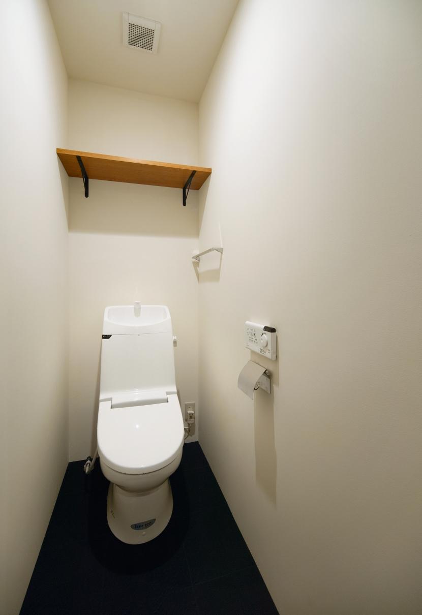 nest 直線で構成されたパノラミックな一戸建リノベの写真 トイレ
