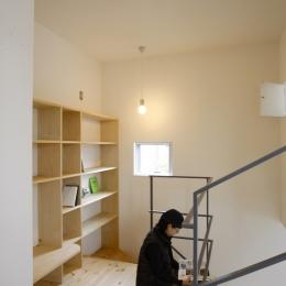 ラップハウス (階段踊り場は書斎に)