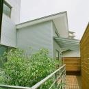 中庭をめぐる空中回廊