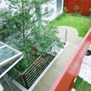 2階にある屋上庭園