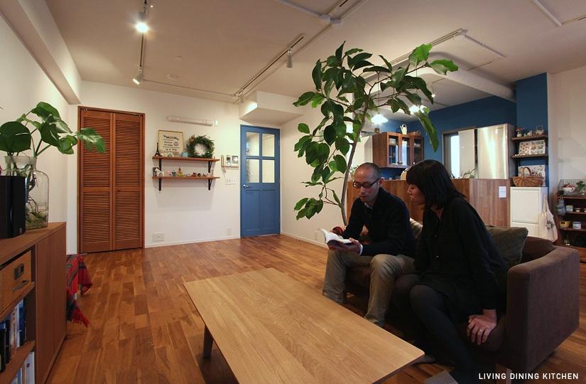 木枠の先にあるものの部屋 リビング