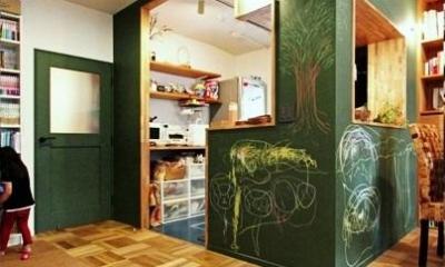 No.8 (キッチン壁:黒板塗装)