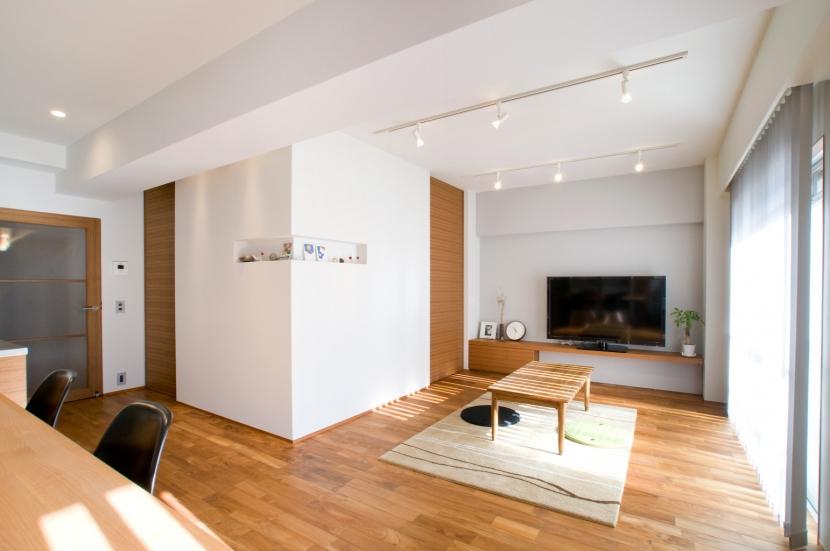 心地良いカフェのような空間(リノベーション)の部屋 リビング2