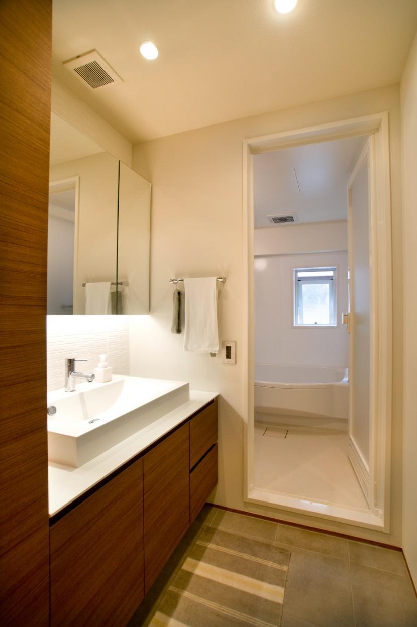 心地良いカフェのような空間(リノベーション)の部屋 洗面室