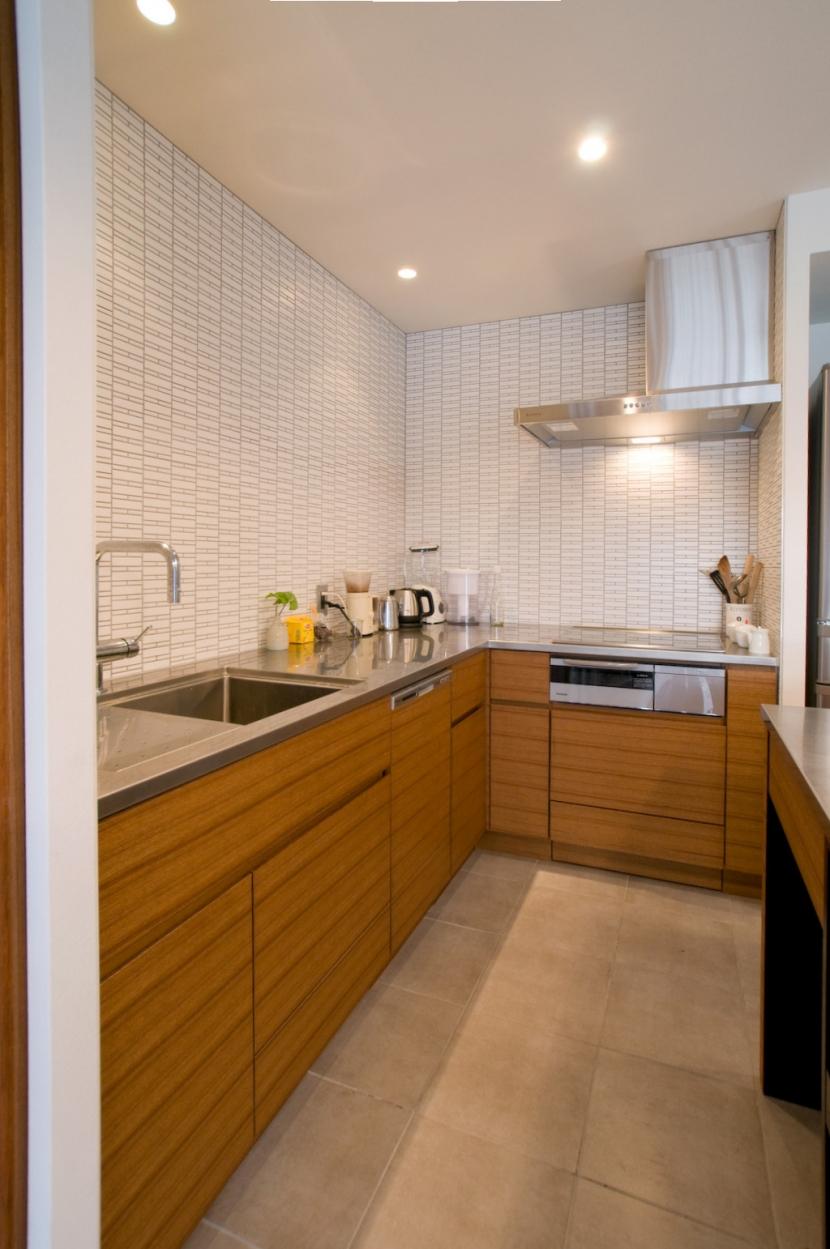 心地良いカフェのような空間(リノベーション)の部屋 キッチン
