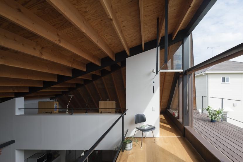 大屋根のいえの部屋 オープンスペース