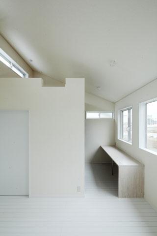 しろくてしかくい家の写真 寝室2