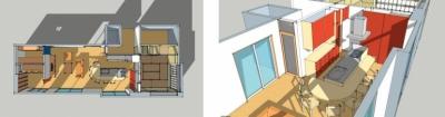 ダイニング・キッチン (上尾の家-二世帯住宅へのリフォーム)