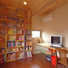 上尾の家-二世帯住宅へのリフォーム (色にこだわった子供室)