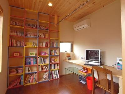 色にこだわった子供室 (上尾の家-二世帯住宅へのリフォーム)