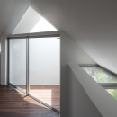 「桜上水の家」トンガリ屋根の木造3階建て住宅