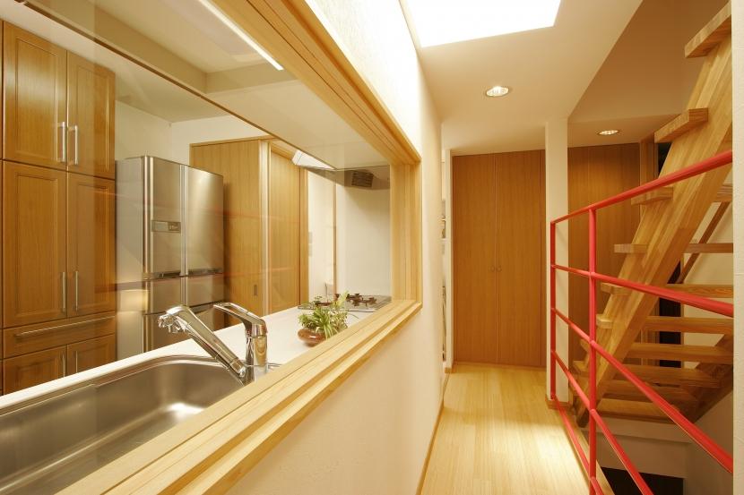 MS-Houseの部屋 廊下+階段+キッチン