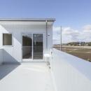 2つ屋根の家の写真 バルコニー