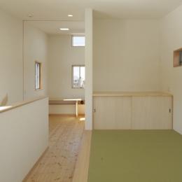 2つ屋根の家 (ゲスト用和室)