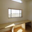 2つ屋根の家の写真 作業室2