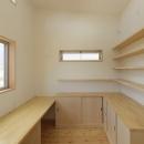 2つ屋根の家の写真 作業室1
