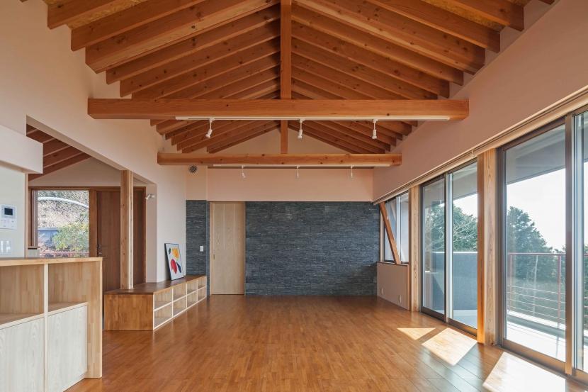 伊豆の国の家の部屋 リビング