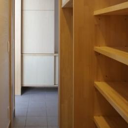 凸(でこ)の家 (キッチンバックヤード2)
