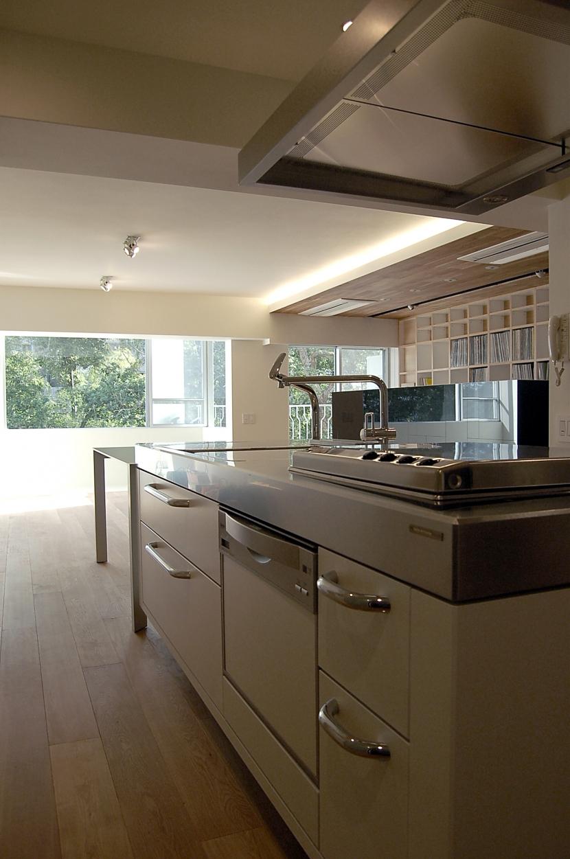内部に情熱を注いだ空間(リノベーション)の部屋 キッチン1
