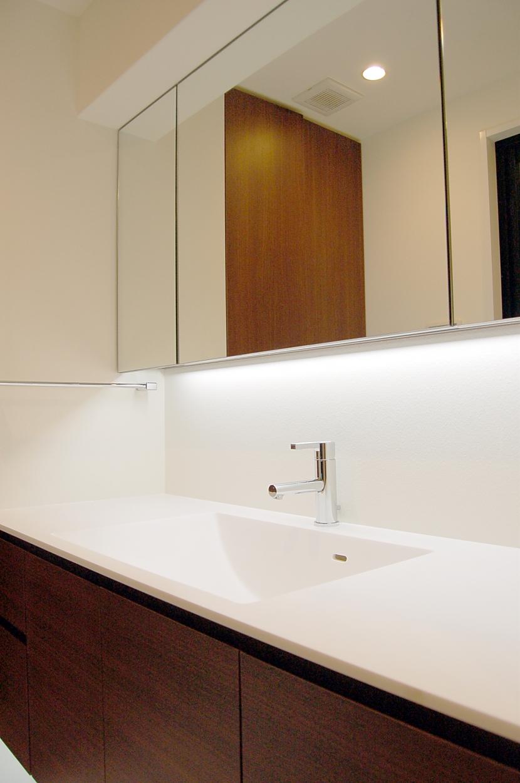 内部に情熱を注いだ空間(リノベーション)の写真 洗面室