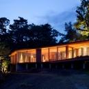 千ヶ滝山荘の写真 外観-夜間1