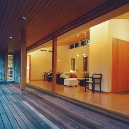 軽井沢の家9 (テラス)