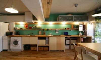 リノベーション「flat.604」 (キッチン)