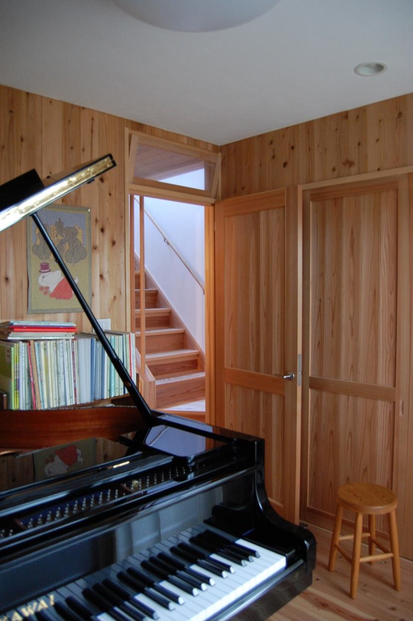 聚楽廻南町の家の部屋 音楽室