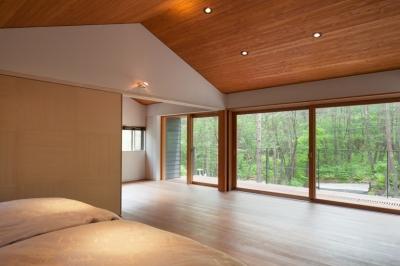 ベッドルームからの眺め (I山荘)
