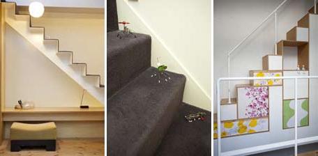 colors 色を重ねおいたいえの部屋 階段