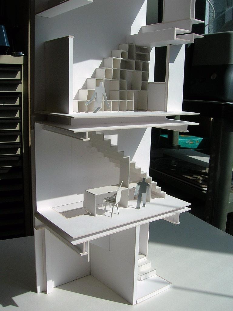 colors 色を重ねおいたいえの部屋 階段の検討